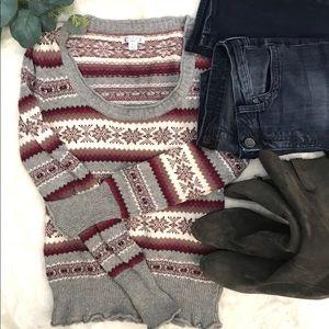 Anthropologie Aphorism Argyle sweater size medium